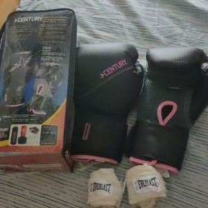 Century Boxing Gloves and Hand Wrap